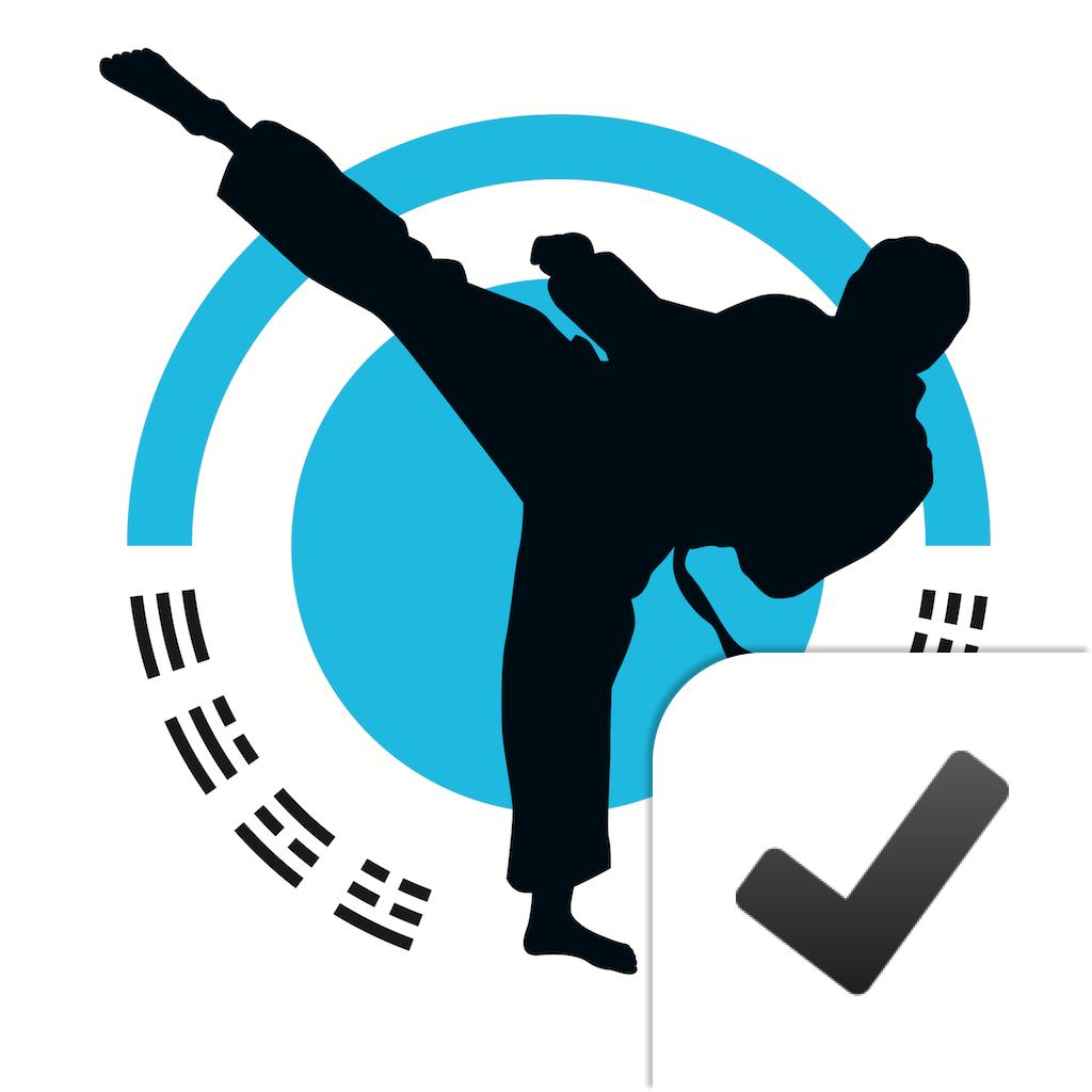 Taekwondo symbol vertical